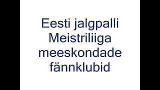 eesti klubide fännid