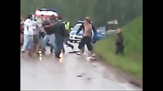Fight in Estonia.Pühajärve Party.(Жесть).Драка Подростов