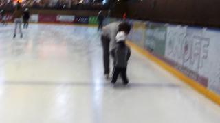 3 year old learns to Ice Skate in Tartu Estonia