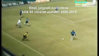 Eesti jalgpallikoondise kõik 82 väravat aastatel 2005-2012