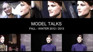 Katlin Aas - Model Talk at Fashion Week Fall/Winter 2012-13 | FashionTV