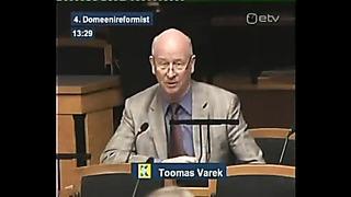 Riigikogu infotund Toomas Varek domeenid reform Juhan Parts ja Olga Sõtnik