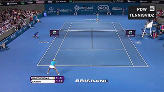 Kanepi vs Hantuchova Brisbane 2012 Highlights