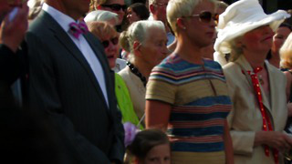 Estonian President Toomas Hendrik Ilves with first lady - Canada Day - Estonian national anthem