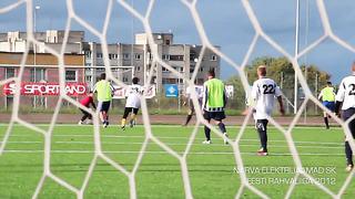 Narva Elektrijaamad SK - Värska Originaal. Eesti Rahvaliiga 2012. Goal