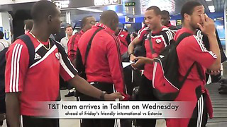 Post-Game Interviews as T&T arrives in Tallinn, Estonia