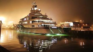 Mega yacht Mayan Queen IV in Tallinn
