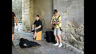 2 wonderful young musicians in Tallinn (Estonia) - 09_06_2013.