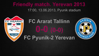 FC Pyunik-2 (Yerevan) vs. FC Ararat (Tallinn), 0_0 (0_0), Highlights. Friendly match (Yerevan 2013)