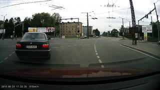 Car accident in Tallinn (Intersection Endla _ Suur-Ameerika) 24.6.2013
