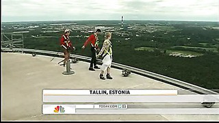 Estonia TV tower attracts thrill-seekers