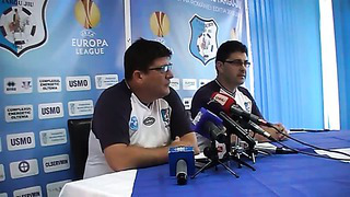 CRISTI PUSTAI CONFERINTA DE PRESA MECI PANDURII - FC LEVADIA TALLINN 24.07.2013