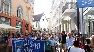 23.7.2013 HJK Supporters Corteo @ Tallinn