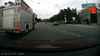 Car accident in Tallinn Intersection Endla Suur Ameerika) 24 6 2013
