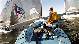 On board with Andrew Mills at the Finn Gold Cup in Tallinn
