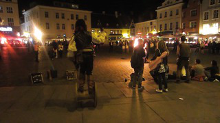 Art and performance in the old square of Tallin