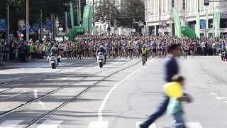 Start of SEB marathon 10 km, Tallinn 2013