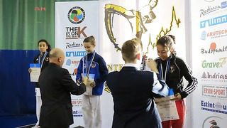Karate International Tournament Tallinn Open 2013 Kumite girls 12 13 years 45 kg.
