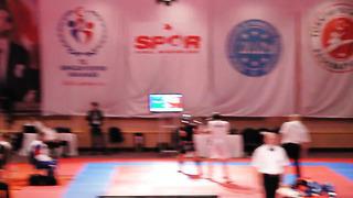 Mario Nani Campionati Mondiali Kickboxing Wako 2013 KL-74 Italia-Estonia Prima Ripresa