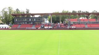 Tartu JK Welco Elekter - Pärnu FC Metropool. Võistkondade sissemarss