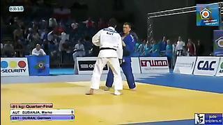 Judo 2013 European Championship Cadets Tallinn_ Bubanja (AUT) - Duran (EST) [-81kg]