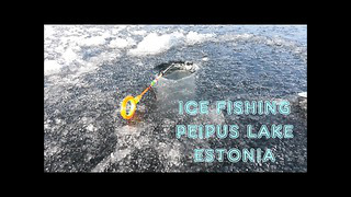 L.P.F. latvia predator fishing ICE FISHING PEIPUS LAKE ESTONIA
