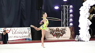 Kravtsenko Ksenija, born 2005, hoop, Tallin, Estonia , coach Ratsejeva N., Tjomuskina J.