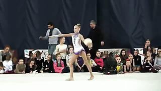Lemsalu Reelika, born 2002, ball, Tallin Estonia, coach Ratsejeva N. Tjomuskina J.