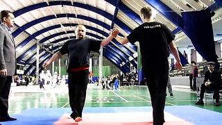 Tui Shou - Pushing Hands Tournament 2014 Estonia, Tallinn. Moving step category.