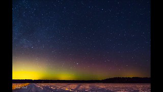 Winter auroras of year 2014.Estonia.