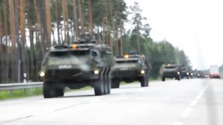 Военная колонна Эстония