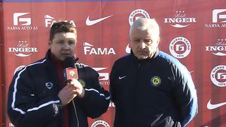 JK NARVA TRANS TV_ Валерий Бондаренко - «Этот матч был битвой характеров»