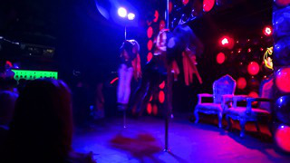 Aerial Dance Studio Tallinn@Club Prive. Natalie & Jane @pole dance opening show