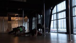 Nadya & Sonya Exotic Pole Dance@ Aerial Dance Studio. Tallinn