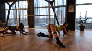 Nadya & Sonya. Exotic Pole Dance@Aerial Dance Studio.Tallinn