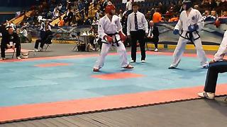 Aleksander Joonasing, Fight 3, Round 1, European Taekwondo ITF Championship, Minsk 2014.