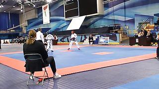 Danila Subachus (Red), European Taekwondo ITF Championship, Minsk 2014.