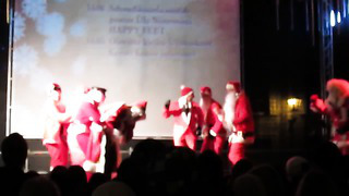 Drunk Danish Santas dance to Jingle Bells in Tallinn