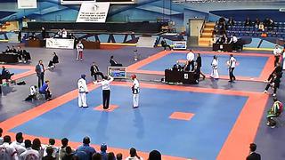 Martin Stihharev, Fight1, Round 2, European Taekwondo ITF Championship, Minsk 2014.
