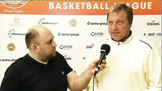 Тийт Сокк после матча - главный тренер ТТУ (Таллин, Эстония) 18.04.2014