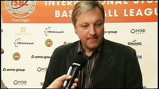 Тийт Сокк после матча - главный тренер ТТУ (Таллин, Эстония)