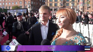 Tanja on the red carpet in Copenhagen (Eurovision 2014 Estonia)