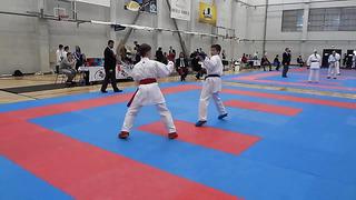 Zinovkin Maksim Karate Eesti Dragon Cup 2014 Võru MU14_ -52 kg , I round