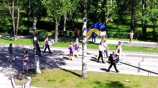 Эстония Силламяэ, Украинцы орут бандеровские лозунги