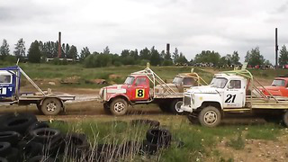 ►Gaz, Gaz, GAZ53 Race _2014 AutoCross _Estonian & Baltic Cup _Tapa _Estonia VIDEO HD