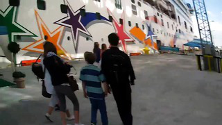 Leaving the Norwegian Star Cruise Ship and walking in Tallinn, Estonia