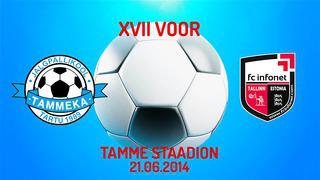 XVII voor Tartu JK Tammeka - Tallinna FC Infonet 0_4 (0_2)