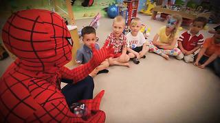 Человек паук на дне рождения. Макар, 5 лет. Таллинн.