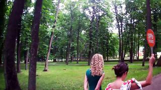 walking to Kadriorg Palace in tallinn, Estonia