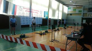 European Championship kettlebell 24kg jerk - 131 reps Nursultan Kuldeev 2014 Estonia